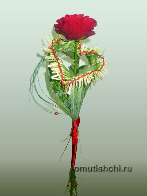 Букет из одного цветка, для учителя мужчины