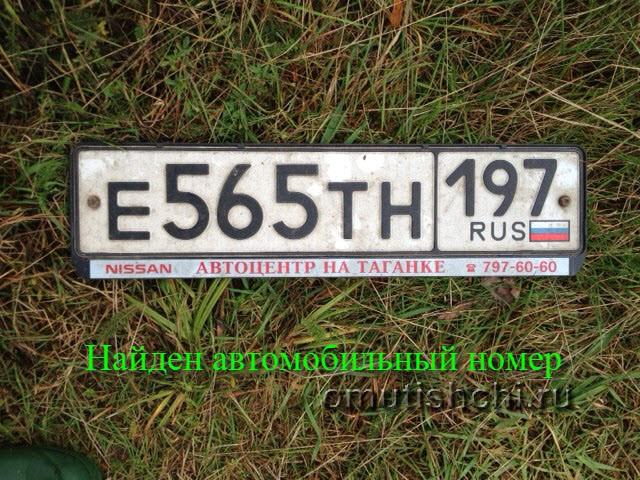 Найден номер Е565ТН 197 RUS